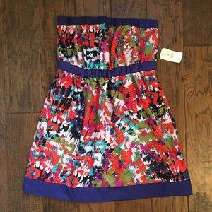 NWT Forever 21 Strapless Mini Dress - L